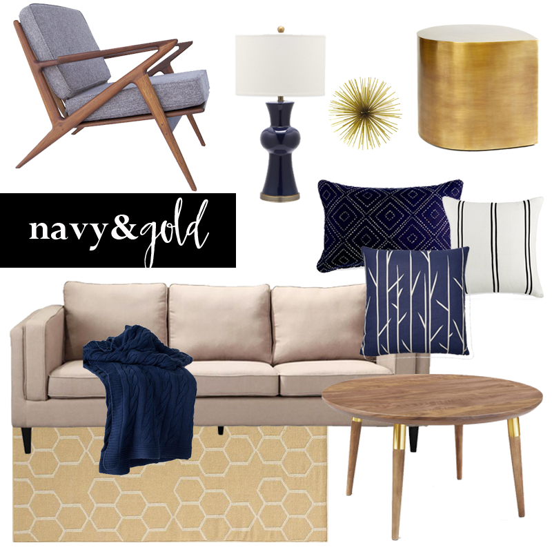 Navy Gold Ky On Design