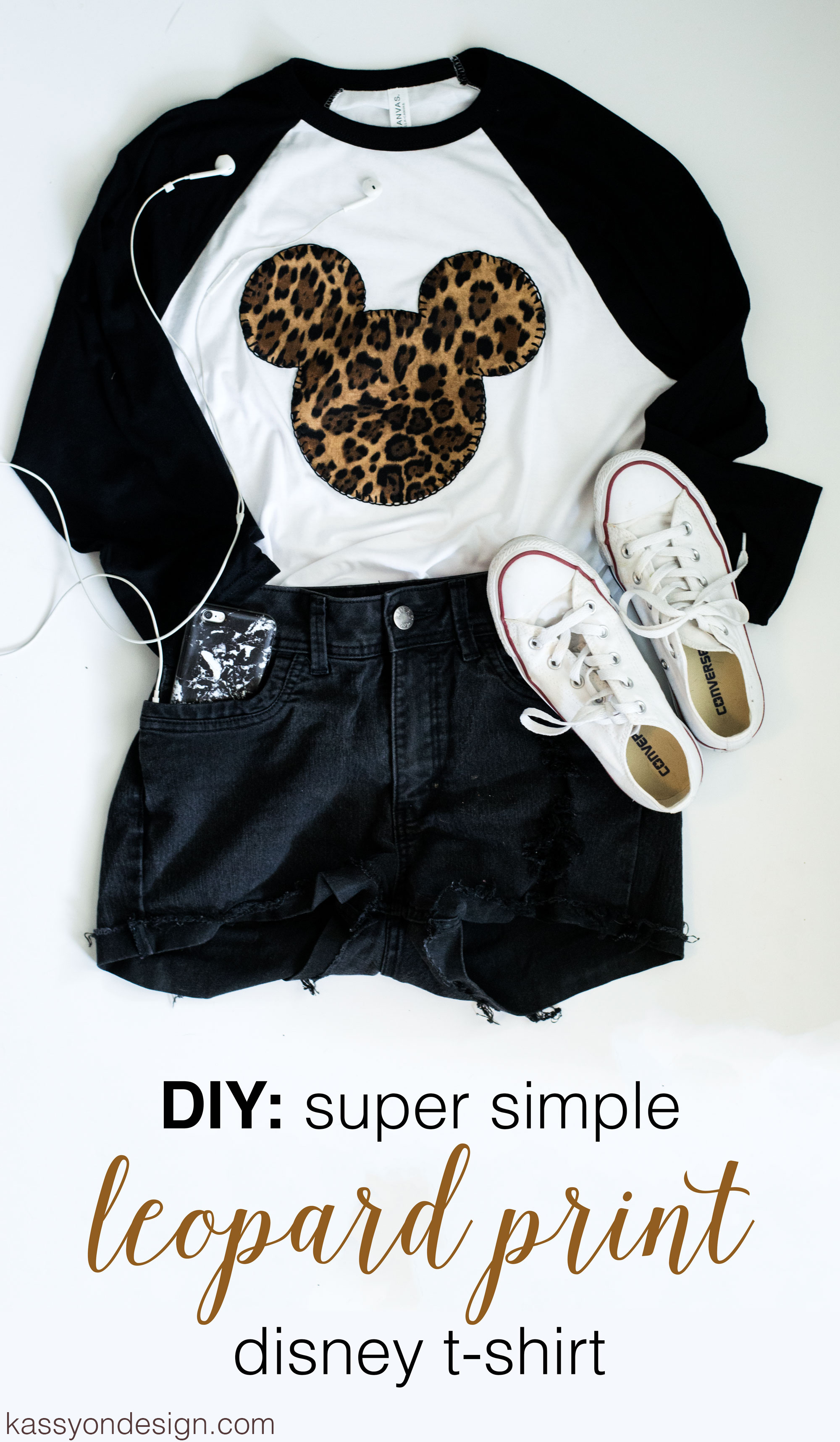 Disney diy leopard print mickey shirt kassy on design for Shirt printing places near me