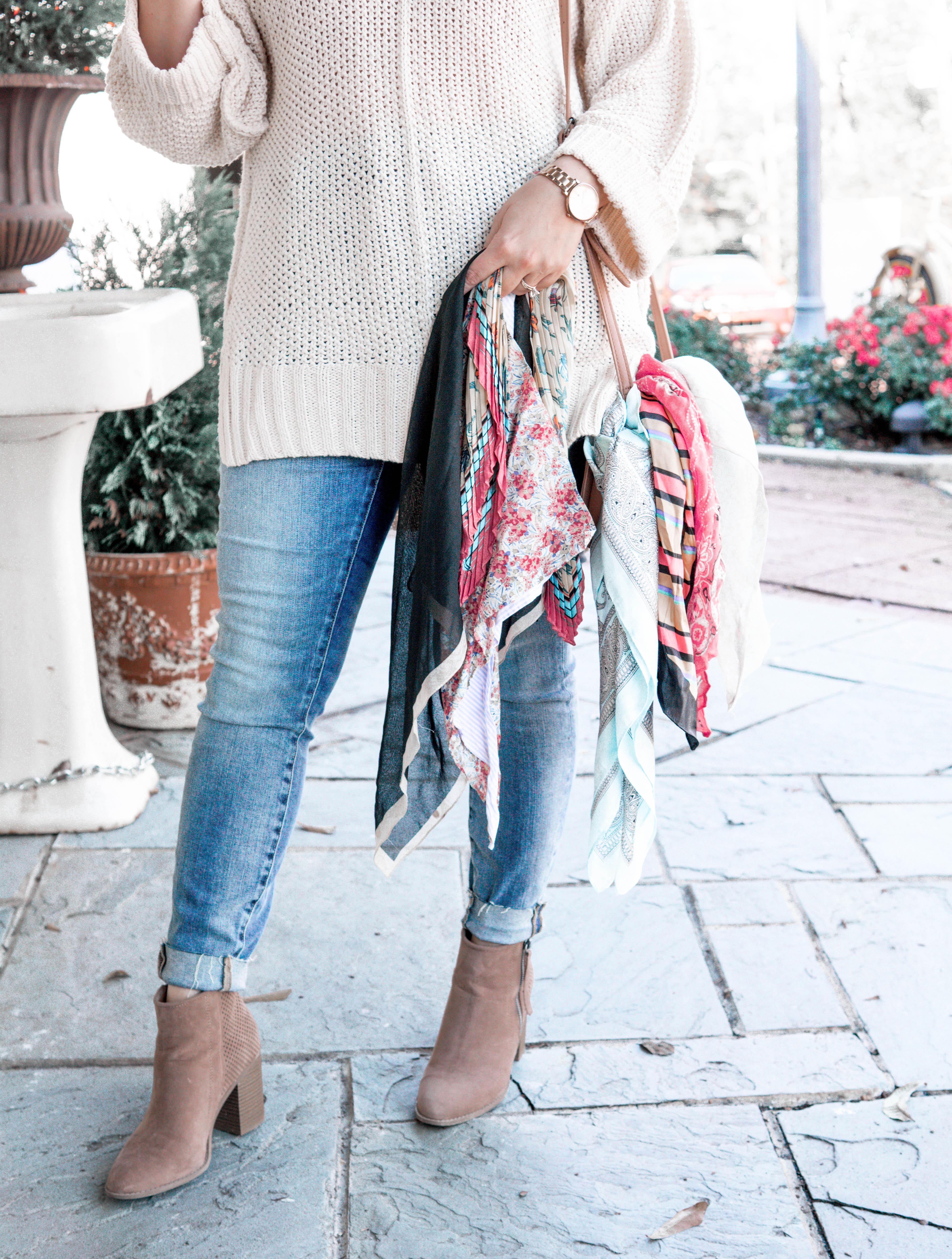 2781627928326 5 Ways to Wear a Silk Scarf - Kassy On Design