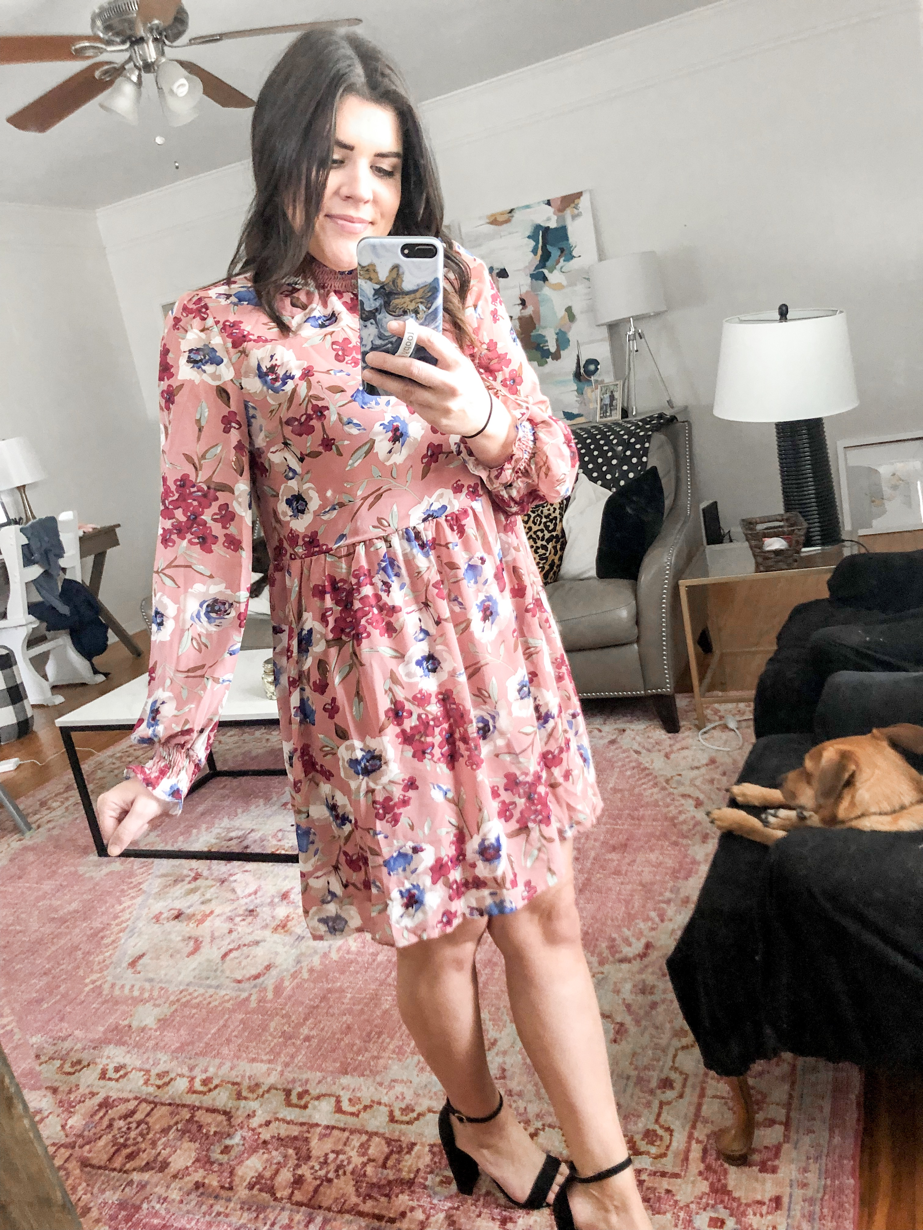 ba1a3caecac Frill Detail Floral Dress (size Medium – actually ran a little big)